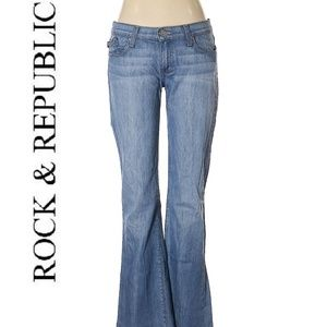 Rock & Republic Roth Flare Light Bleached Jeans